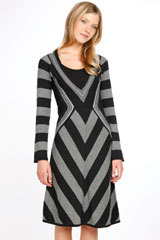 Second City Style: Fall Fashion Find. Chevron Sweater Dress For Under $100? Second City Style Fashion Blog from secondcitystyle.typepad.com